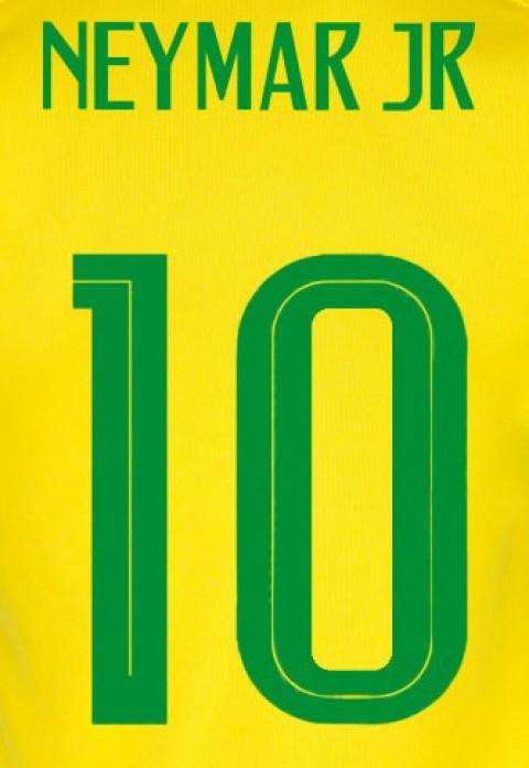 Personalização  Neymar Jr + número 10