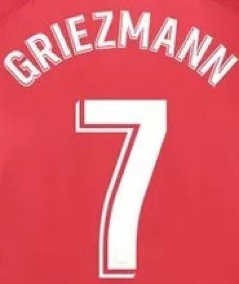Personalização Griezmann + número 7