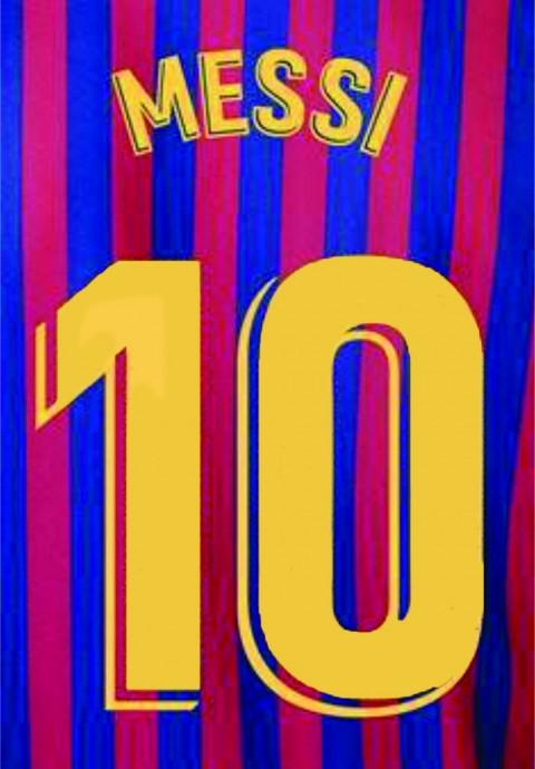 Personalização Messi + número 10